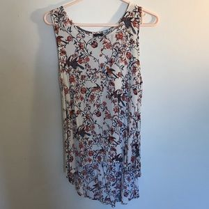 Floral High/Low Tank